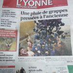 Une de l'Yonne Républicaine 22 septembre 2019